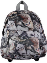 Molo Kids' Big Cat Backpack, Gray