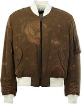 Haider Ackermann floral embroidered bomber jacket