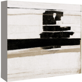 American Flat Americanflat Lack And White Abstract By Kasi Minami Canvas Artwork