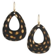 Nest Spotted Horn Open Teardrop Earrings