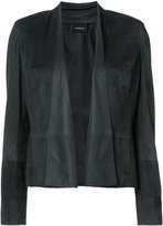 Akris boxy jacket - women - Goat Suede - 6