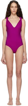 Nanushka Pink Fran One-Piece Swimsuit