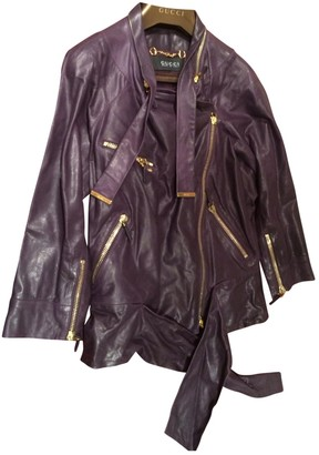 Gucci Purple Leather Jackets
