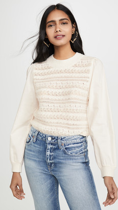 La Vie Rebecca Taylor Mixed Media Pullover