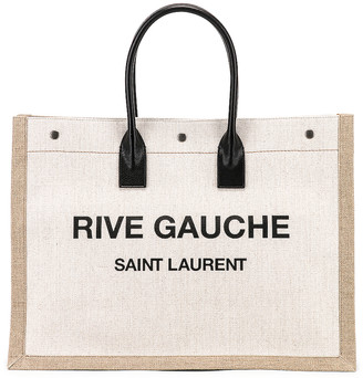 Saint Laurent Noe Tote Bag in White & Black | FWRD