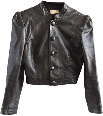 Erin Fetherston Black Leather Jacket for Women
