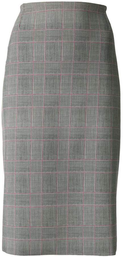 Chiara Boni Le Petite Robe Di check pencil skirt