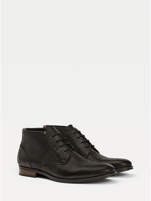 Tommy Hilfiger Leather Mix Ankle Boot