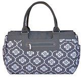 JJ Cole Parker Diaper Bag, Gray Floret by