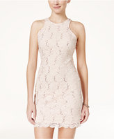 Jump Juniors' Open-Back Sequin Lace Bodycon Dress