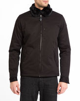 Schott NYC Black Evans Removable Fur Collar Cotton Jacket
