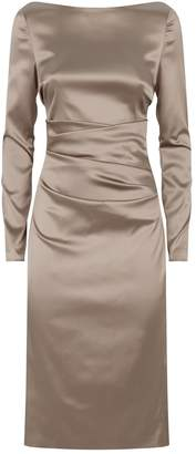 Talbot Runhof Satin Scoop Back Dress