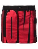 Givenchy Love denim mini skirt