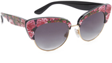 Dolce & Gabbana Rose Cat Eye Sunglasses