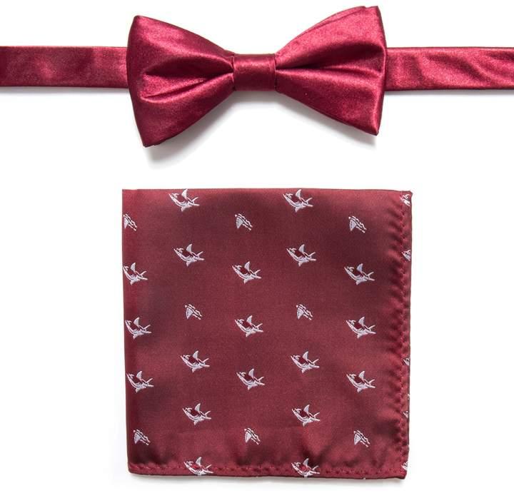 Apt. 9 Men's Pre-Tied Bow Tie and Pocket Square Set
