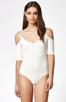 KENDALL + KYLIE Kendall & Kylie Tie Cold Shoulder Bodysuit