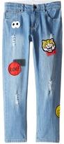 Stella McCartney Lohan Skinny Denim Jeans with Patches (Toddler/Little Kids/Big Kids)