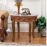 Toscano Chantret Marble Topped End Table Design