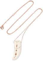 Pascale Monvoisin Golden Tattoo 9-karat Rose Gold Resin Necklace - one size