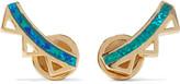 Noir Gold-tone opal earrings