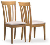 Monarch Set of Two Dining Chairs with Padded Seats