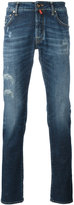 Jacob Cohen distressed finish jeans - men - Cotton/Spandex/Elastane - 33