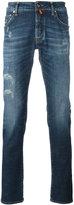 Jacob Cohen distressed finish jeans - men - Cotton/Spandex/Elastane - 36