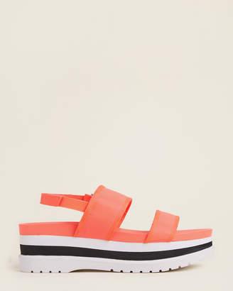 Calvin Klein Pink Fluorescent Nola Platform Sandals