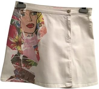 Roberto Cavalli White Cotton Skirt for Women