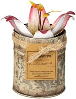 Bali Mantra Tin with Pink Lilly Lid, 9 oz - Peach & Grapefruit