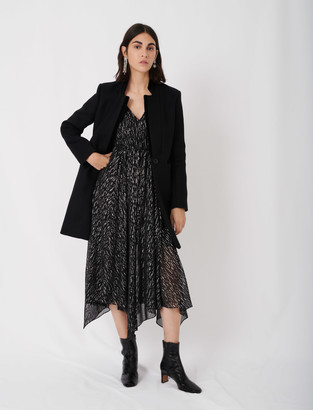 Maje Wool and velvet coat