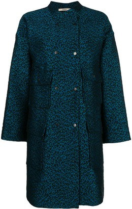 Odeeh Leopard Print Single-Breasted Coat