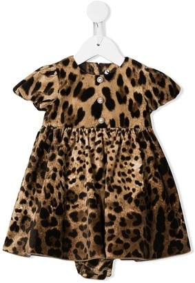 Dolce & Gabbana Leopard Pattern Mini Dress