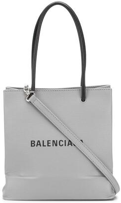 Balenciaga Logo-Print Shopping Tote
