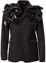 Comme des Garcons bow appliqué blazer - women - Silk/Polyester/Wool - M