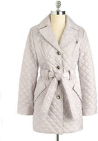 Laundry by Shelli Segal Quilted Trench Coat