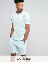 Asos Tall Pyjama Set With Egg Print