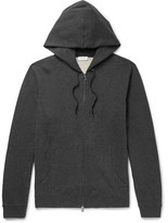 Sunspel Brushed Loopback Cotton-jersey Zip-up Hoodie