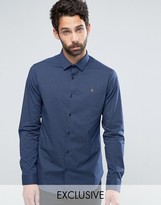 Farah Polka Dot Shirt in Slim Fit with Stretch