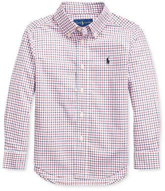 Ralph Lauren Boys' Plaid Poplin Button-Down Shirt - Little Kid