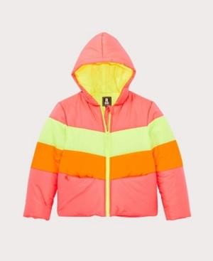 S. Rothschild Big Girls Neon Colorblock Puffer Coat