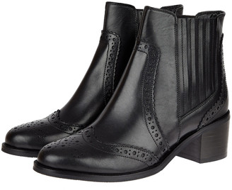 Under Armour Brogue Leather Ankle Boots Black