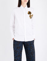 Kenzo Floral-embroidered cotton shirt