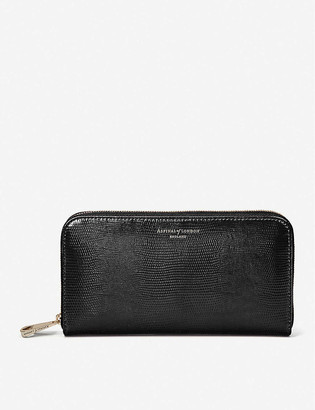 Aspinal of London Continental leather clutch purse