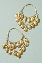 Anthropologie Becca Petal Hoop Earrings