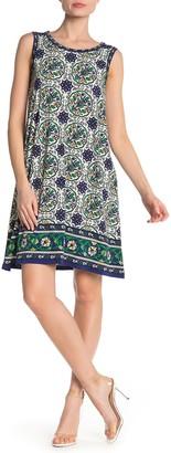 Max Studio Patterned Sleeveless Shift Dress