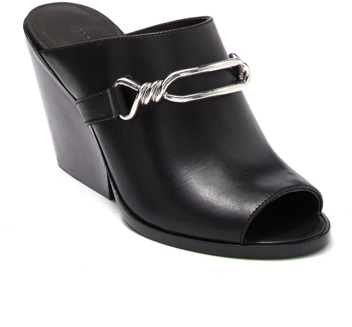 AllSaints Ayita Leather Wedge Mule