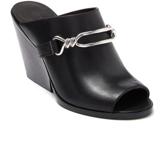 AllSaints Ayita Leather Wedge Mule