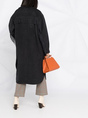 P.A.R.O.S.H. Fringed Wool Midi Coat