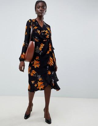 InWear Vale Ruffle Floral Print Dress